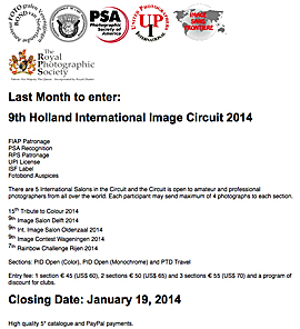 9th Holland International Image Circuit