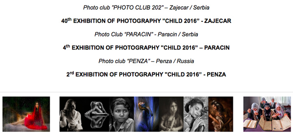 Exhibition of Photography - Child 2016