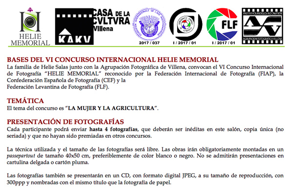 VI International Contest Helie Memorial
