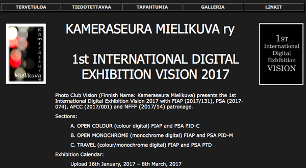 1st International Digital Exhibition Vision 2017
