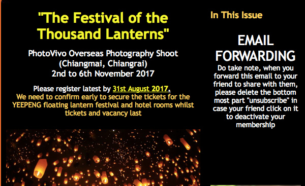 """The Festival of the thousand lanterns"" Chiangmai, Chiangra"