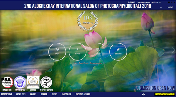 2nd ALOKREKHAY INTERNATIONAL SALON OF PHOTOGRAPHY(DIGITAL) 2018