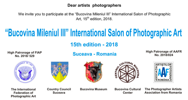 """Bucovina Mileniul III"" International Salon of Photographic Art"