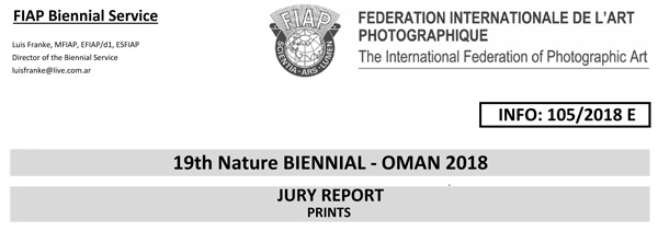 19th Nature BIENNIAL - OMAN 2018