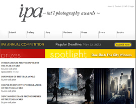 INTERNATIONAL PHOTOGRAPHER OF THE YEAR AWARD