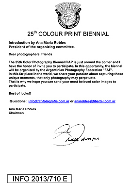 25th COLOR PRINT FIAP BIENNIAL