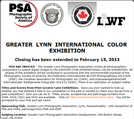 37th Greater Lynn International Color Exhibition